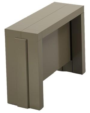 Modèle présenté en laque TIERRA en 4 allonges incorporées de 50 cm.
