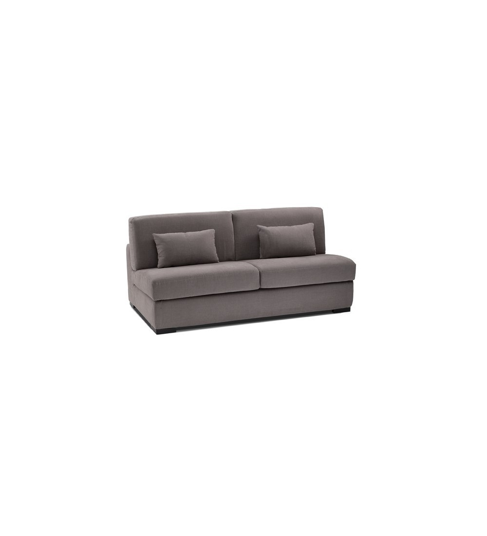 Petit canap lit convertible sans accoudoirs couchage for Canape largeur 140