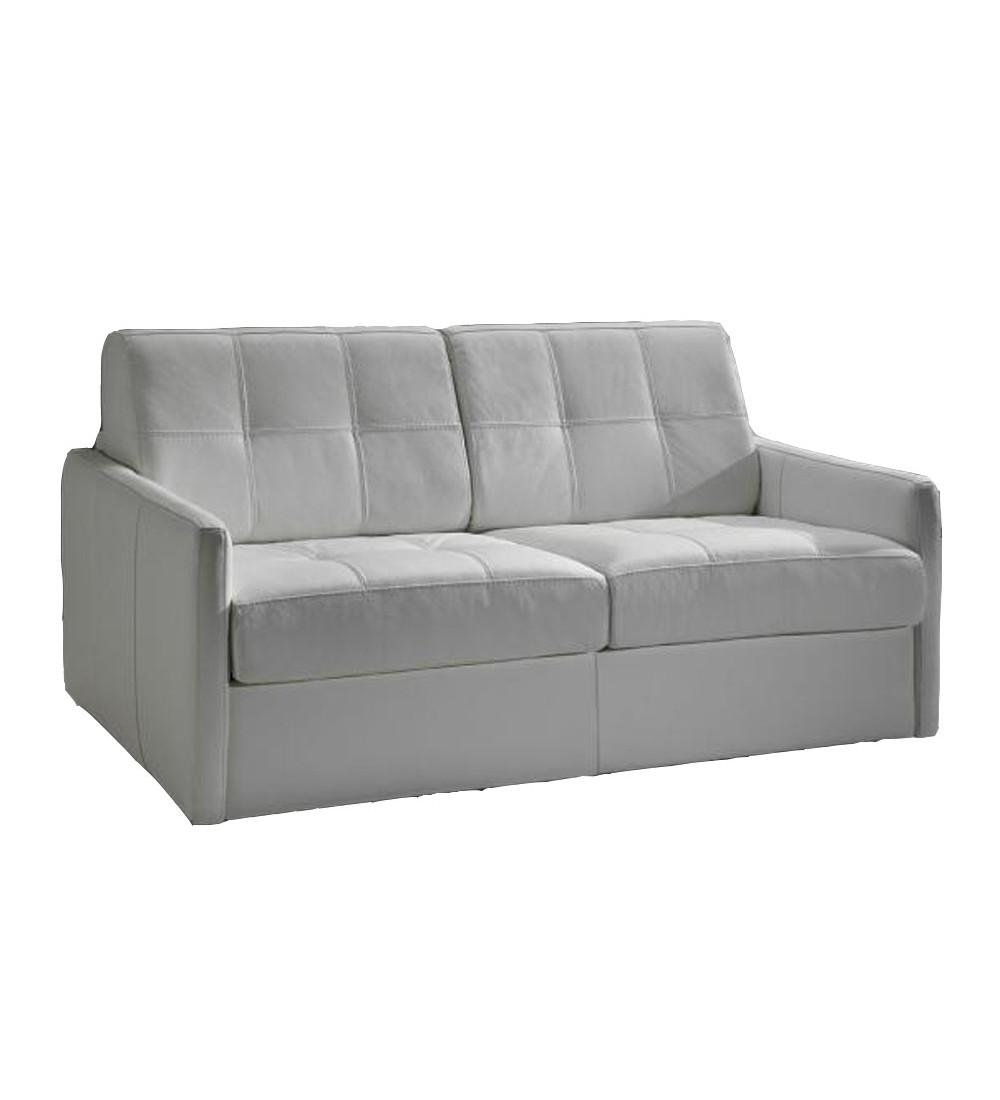 Petit canapé lit tissu couchage quotidien en promo cubik