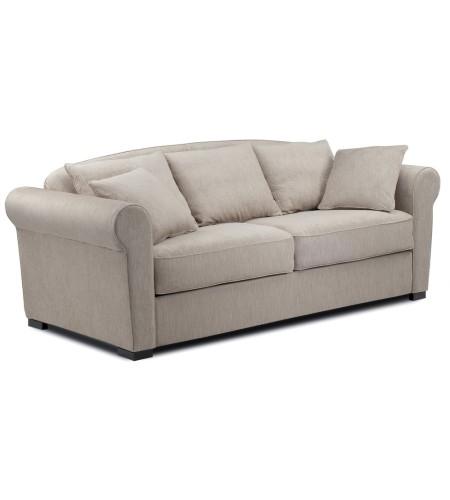 petit canap lit convertible sans accoudoirs couchage quotidien tissus 120 140 160. Black Bedroom Furniture Sets. Home Design Ideas