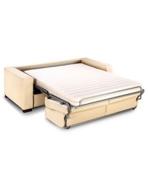 Canape lit tous couchages quotidien avec haut dossier for Canape lit alcantara