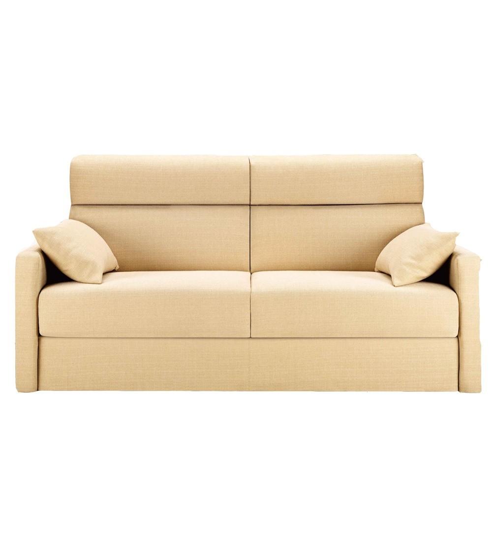 canap lit tous couchages petite largeur et haut dossier en tissu dakota. Black Bedroom Furniture Sets. Home Design Ideas