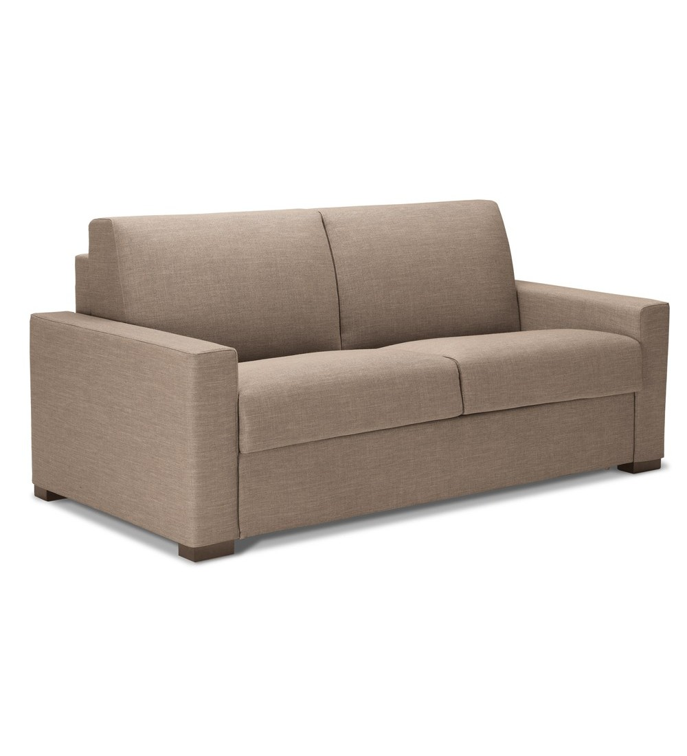 Canape lit convertible en lit couchage quotidien confort for Canape convertible alcantara