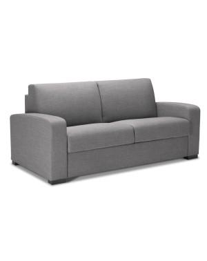 Canap lit couchage quotidien confort en tissu ou cuir corinne for Canape alcantara convertible