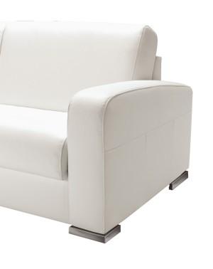 Canap lit ouverture assist e en tissu ou cuir leonardo for Canape lit alcantara