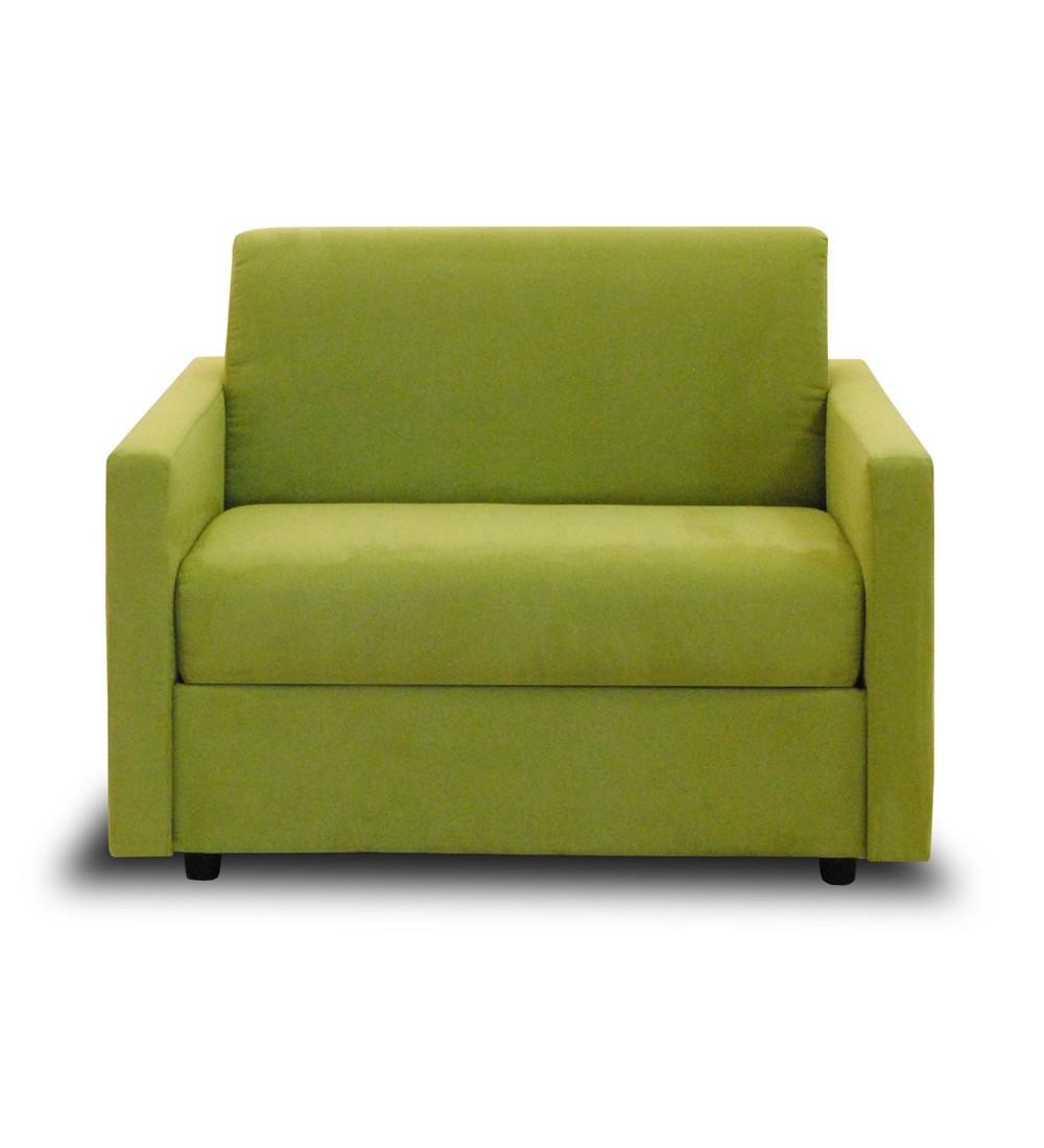 Petit fauteuil convertible en lit tissu couchage quotidien for Convertible petite largeur