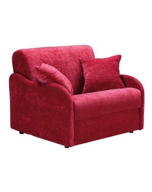 fauteuil lit petite largeur couchage quotidien en tissu ou cuir cirrus. Black Bedroom Furniture Sets. Home Design Ideas