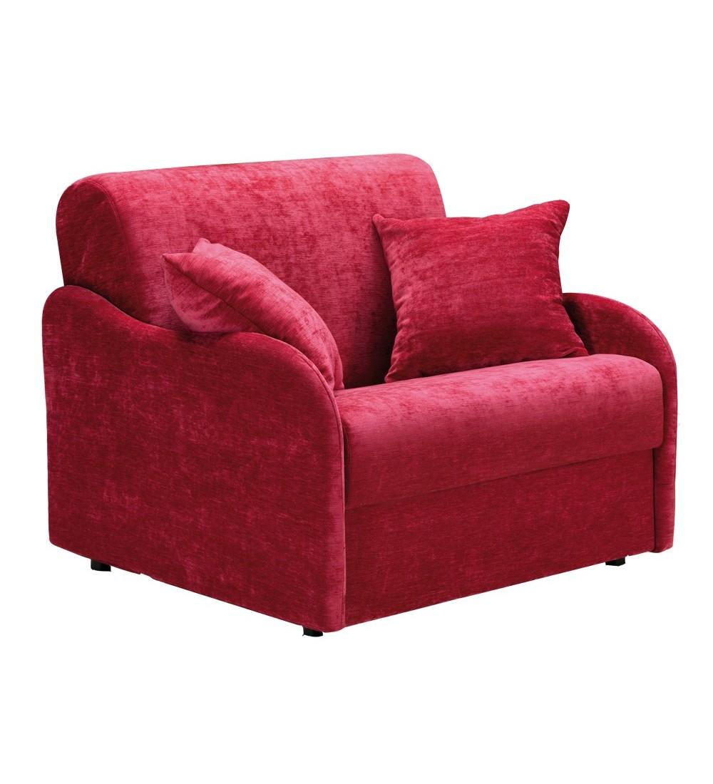 fauteuil lit matelas 18 cm petite largeur en tissu ou cuir cirrus. Black Bedroom Furniture Sets. Home Design Ideas