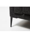 Tissu chiné Divine Noir, Pieds métal noir existe en gris mâte ou en graphite.