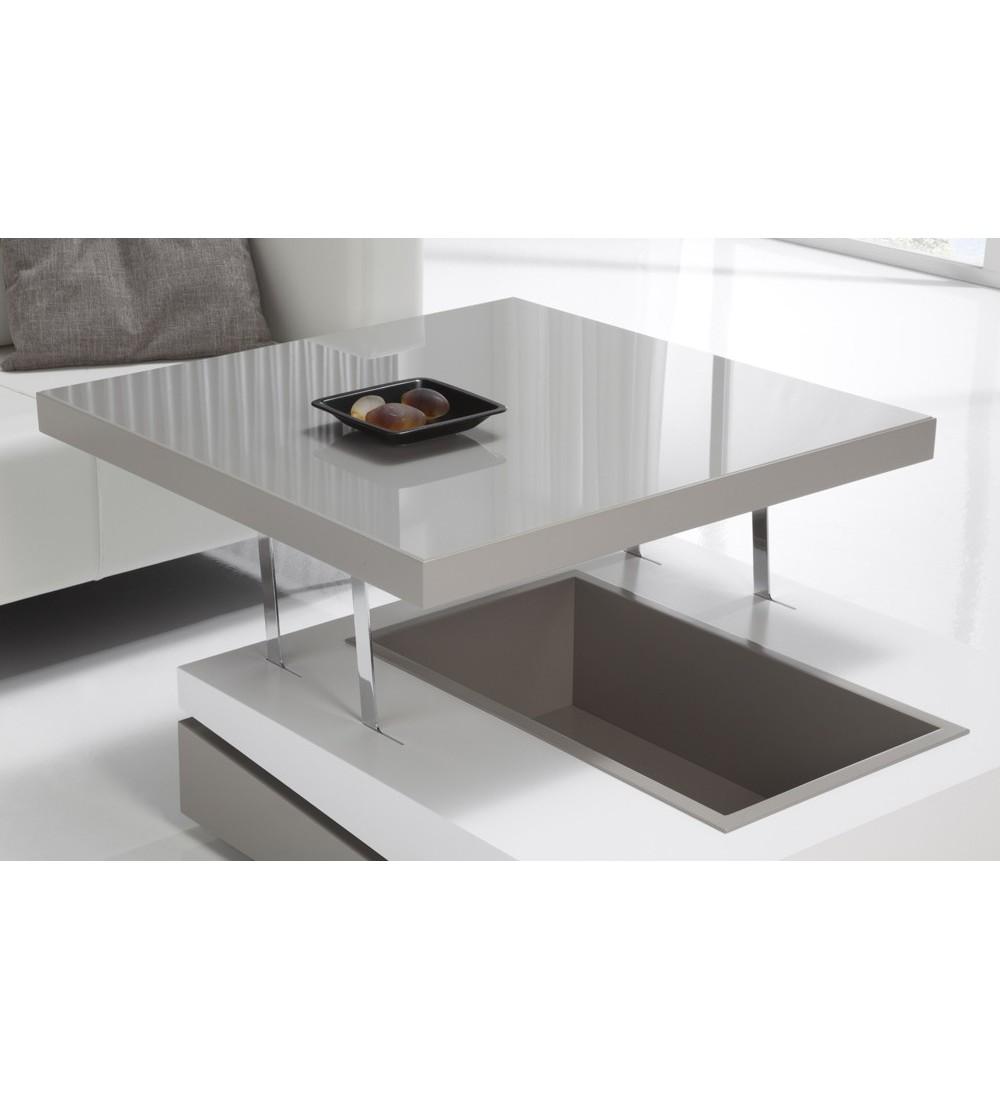 Table Basse Carrée Dinette En Bois En Laque En Céramique Ref 279