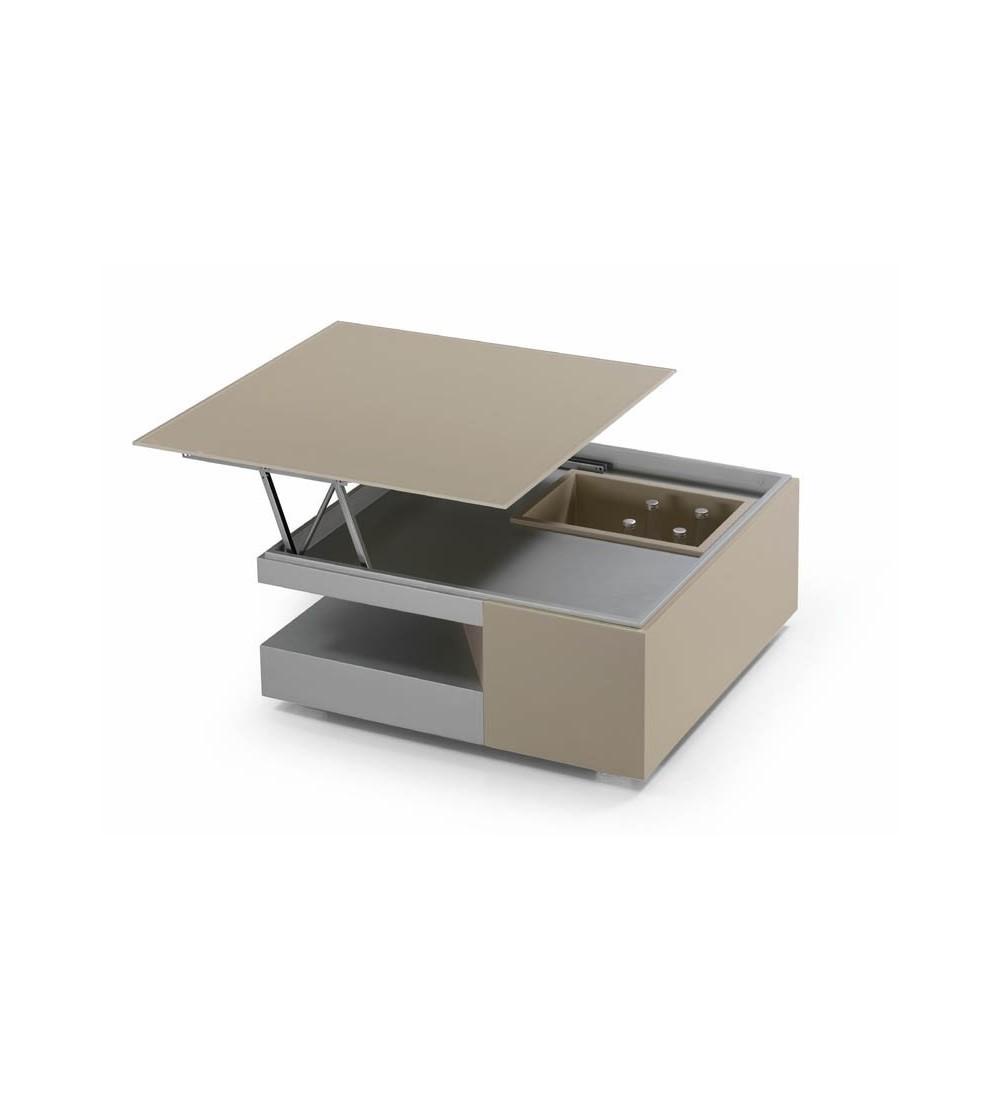 table basse carr e dinette bar ref 244 en bois en laque. Black Bedroom Furniture Sets. Home Design Ideas