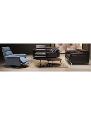 Composition de 2 canapés L180 dont un relax. Et un fauteuil relax manuel Kelly
