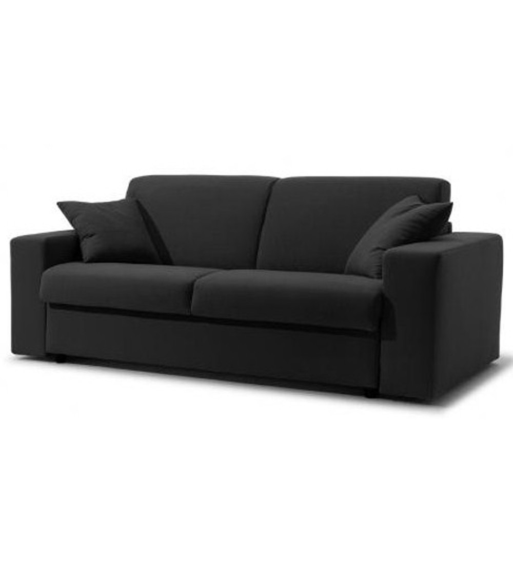 canap lit cuir couchage quotidien en promo ecorapide. Black Bedroom Furniture Sets. Home Design Ideas