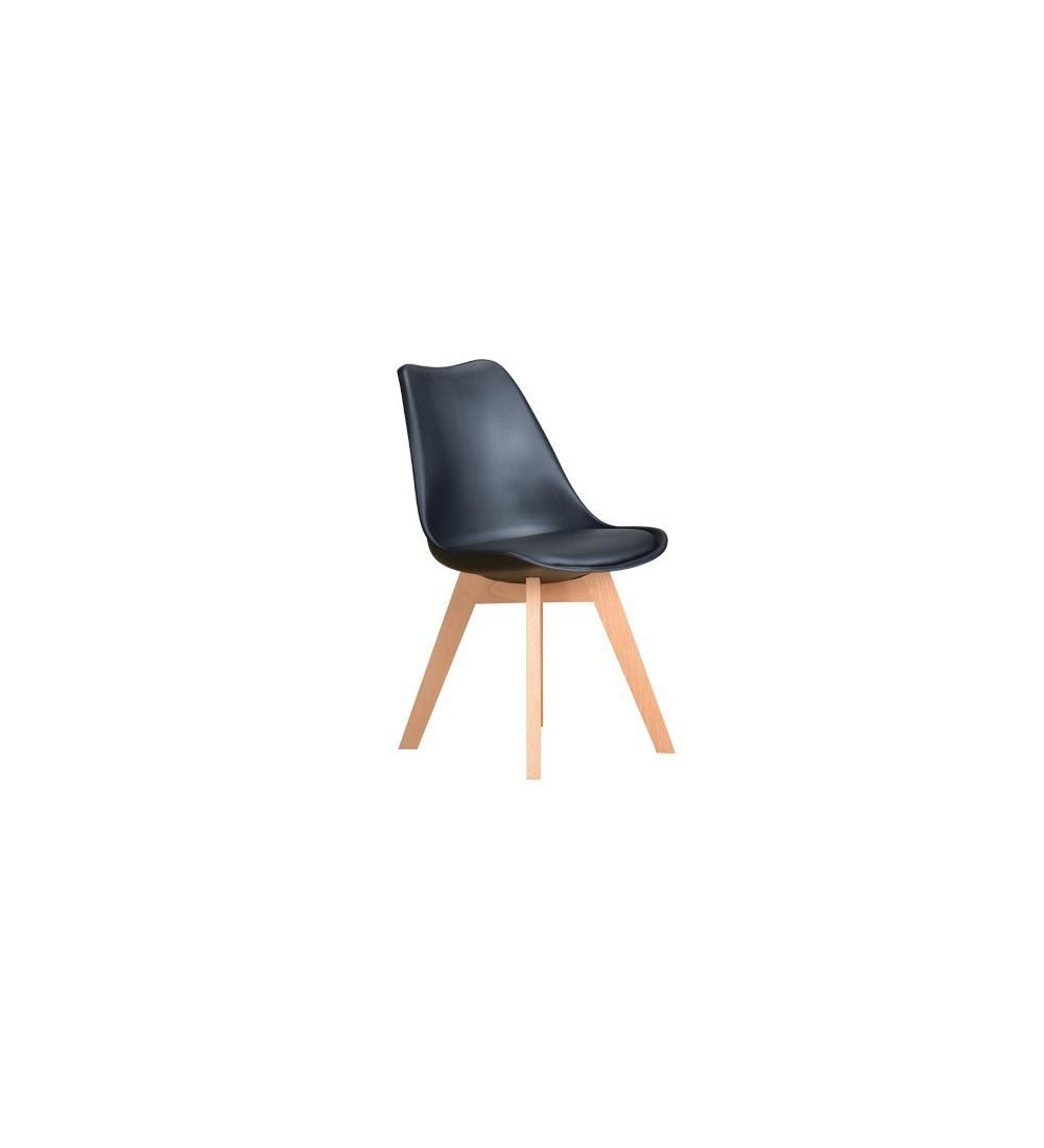 4 chaises de style scandinave en promotion couleur noire - Chaise Style Scandinave