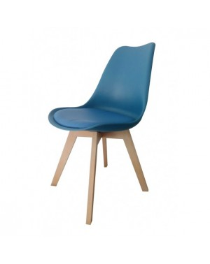 lot de 4 chaises scandinave bleu petrole. Black Bedroom Furniture Sets. Home Design Ideas